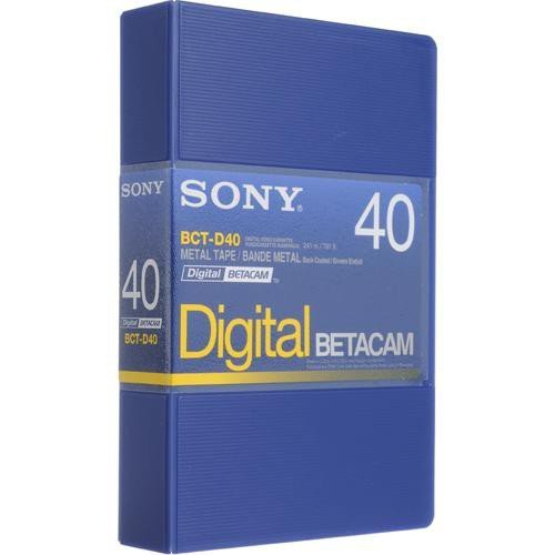 Sony BCT-D40 Digital Betacam Format 40 Minute Tape by Sony