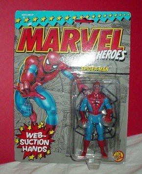 Biz Toy Web - Web suction Spiderman vintage action figure (Marvel Superheroes) by Toy Biz