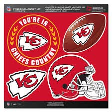 NFL Kansas City Chiefs Magnet Set (4 Piece), Red