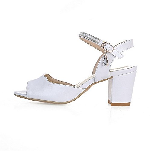 Soft Sandals Fashion US 1TO9 White M Material Girls B Solid 8 SxIYqYFHw