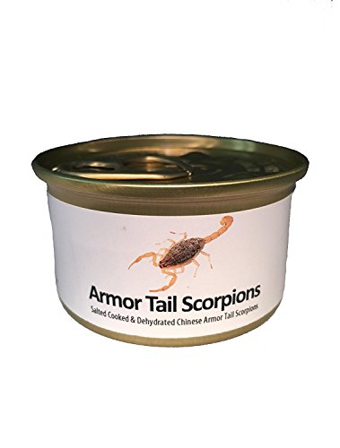 Edible Armor Tail Scorpions. 2 per can