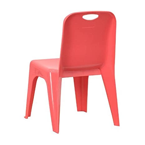 Amazon.com: Silla apilable Escuela YU-YCX-011-RED-GG Red de plástico ...