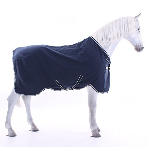 Horseware Rambo Helix Sheet - Navy/Beige/78_6'6 by Horseware