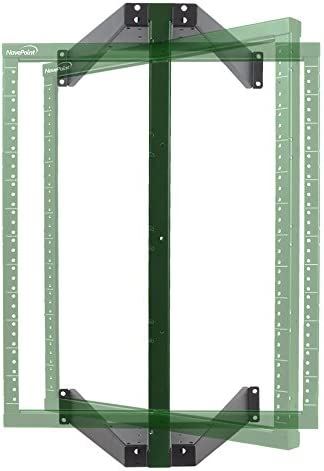 NavePoint 12U Flat Pack Wall Mount Pivoting Open Frame Low Profile Network Server Rack
