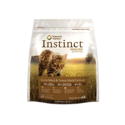 Instinct Raw Boost Grain-Free Duck Meal and Turkey Meal Formula Dry Cat Food by Nature's Variety, 12.1-Pound Bag, My Pet Supplies