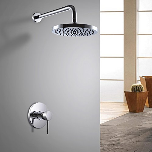 KES Bathroom Shower Faucet Set Single Handle Solid Brass Rou