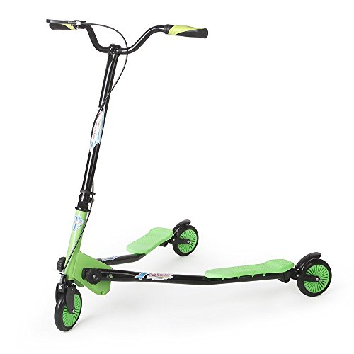 AODI Swing Scooter 3 Wheels Adjustable Foldable Drifting Wiggle Scooter with 3-Wheeled Self Propelling for Boys and Girls Age 7 Years Old and Up