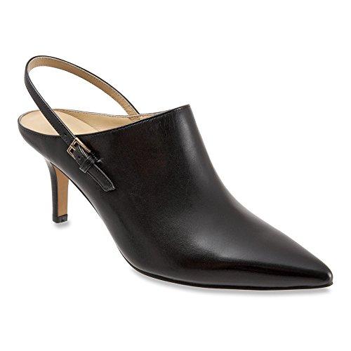Grain Nappa Footwear (Trotters Women's Angel,Black Full Grain Soft Nappa Leather,US 12)