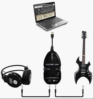 FidgetGear - Cable de conexión USB para guitarra (2 piezas, cable ...