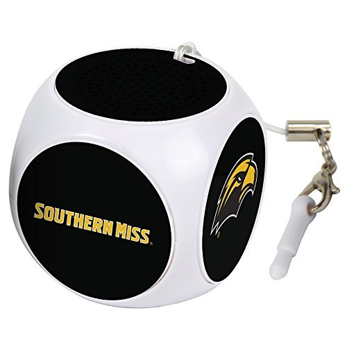 AudioSpice NCAA Southern Mississippi Golden Eagles MX-100 Cubio Mini Bluetooth Speaker, White, One Size