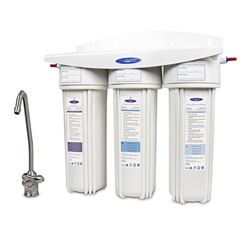 Crystal Quest Undersink Replaceable Triple Fluoride Water Filter System