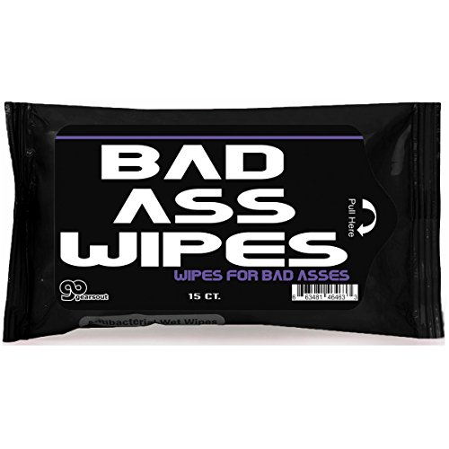 Gears Out Bad Ass Wipes Antibacterial Funny Gags for Guy Weird for Friends Silly Badass Novelty Stocking Stuffers for Adults Teens White Elephant Ideas Unique Father's Day]()