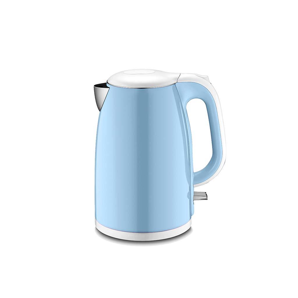 WANGJIN-Wasserkocher Elektrische Kessel-Automatische Abschaltung GroßE KapazitäT 1800w Anti-VerbrüHungs-Isolierung Integrierter Edelstahl 1.7l Blau