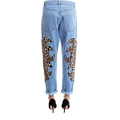 A03235201294 Coton Bleu Claire Jeans Femme MOSCHINO q0w6CBHq