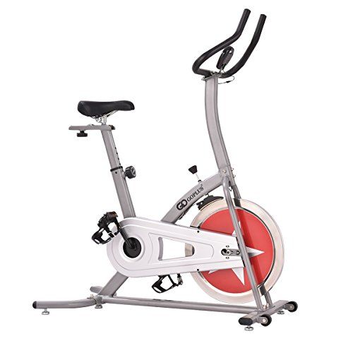 Goplus Indoor Cycle Trainer Adjustable Cycling Stationary Bike Gym Cardio Workout