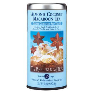 Republic Of Tea Almond Tea (The Republic Of Tea Almond Coconut Macaroon Red Rooibos Herbal Tea, 36 Tea Bag Refill)