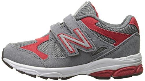 New Balance KV888V1 Pre Running Shoe (Little Kid), Grey/Red, 13.5 M US Little Kid