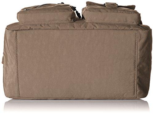 Kipling Damen Defea Schultertaschen, 33x25x19 cm Warm Grey