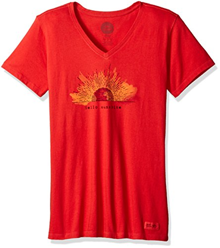 life-is-good-crusher-vee-hello-sunshine-engraved-simply-red-xx-large