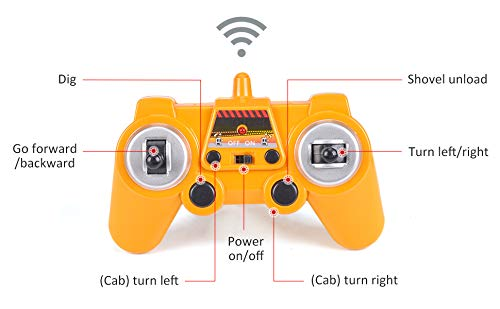 DOUBLE  E Remote Control Truck RC Excavator Toy with Rechargeable Battery Lights and Sounds 2.4GHz Construction Vehicles Tractor 1/26 by DOUBLE  E (Image #7)