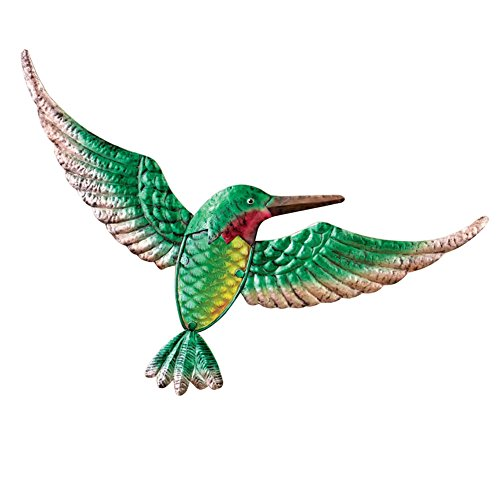 Hummingbird Metal Wall Art Green