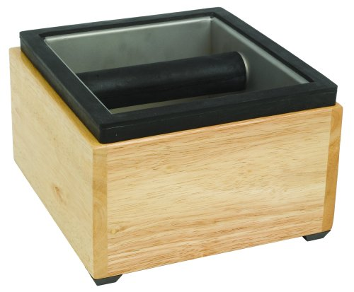 Commercial Espresso Knock Box - Rattleware Maple Knock Box Set, 7.5
