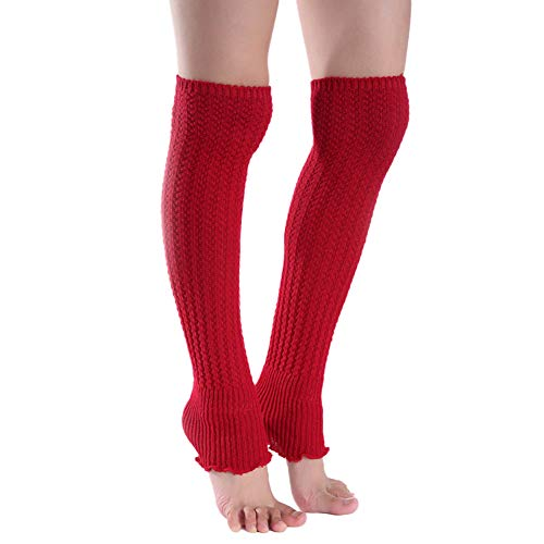 Asudaro Vrouwen kniekousen breien beenwarmers wol warme kniebeschermers gamzakken sokken legwarmers beenwarmers kous…