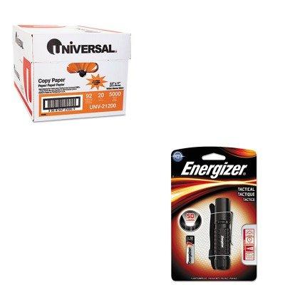 KITEVEMLT1WAAEUNV21200 - Value Kit - Energizer Tactical Metal Light (EVEMLT1WAAE) and Universal Copy Paper (UNV21200)