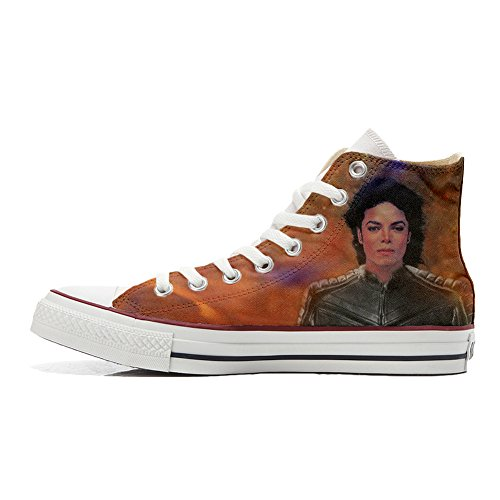 Converse All Star zapatos personalizados (Producto Artesano) The King of the rock