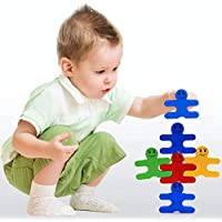 SN Toy Zone High Quality Wooden Cute Cartoon Balacing Stacking Wooden Puzzel Blocks and Shapes Set