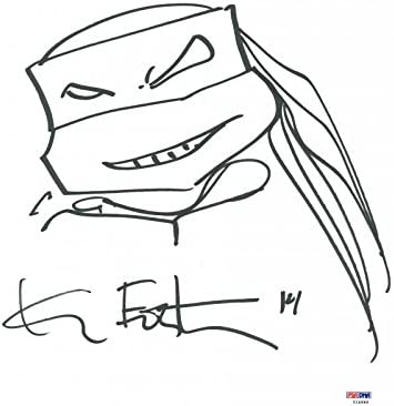 Kevin Eastman Authentic Signed 11X14 Ninja Turtles Sketch ...