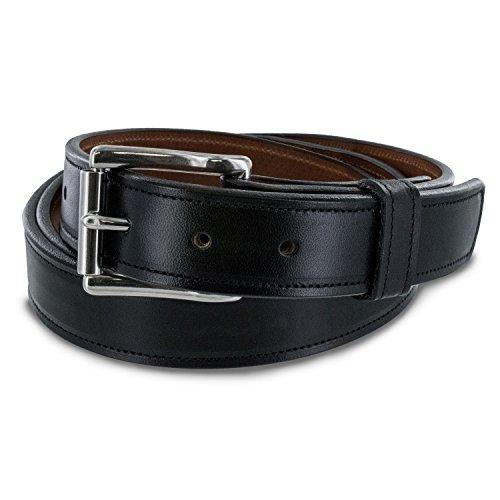 """Hanks The Highland Lined Leather Belt 1 1/4"""" Black - Size 42"""