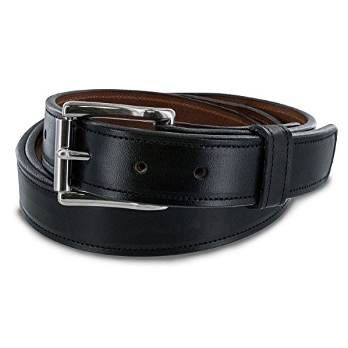 "Hanks 1.25"" Highland Genuine Leather Belt - USA Made - 100 Year Warranty"