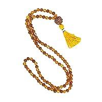 Necklace Mala Beads 108+1 Rudraksha Carnelian Kundalini Yoga Malabeads