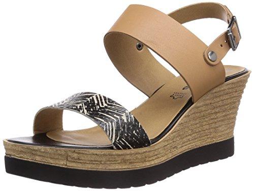Tamaris 28370 - Sandalias de vestir de cuero para mujer beige - Beige (Nature/Safari 395)