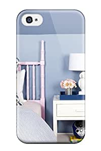 Jamella Snap On Hard Case Cover Girl8217s Room White Bedside Table With Owl Lamp Paired With Blue Walls And Pink Bamboo Headboard Protector For Iphone 4/4s