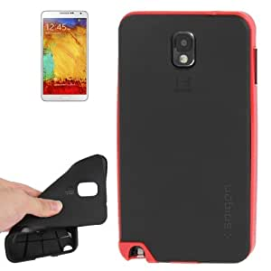 Polycarbonate TPU Back Cover Case Cover Frame Combination Carcasa para Samsung Galaxy Note III %2F (Red) N9000
