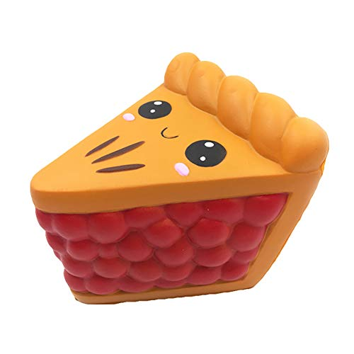 preliked Cute Stress Relief Squeeze Toy with Triangle Pizza Slice Shape Slow Rising Kids Emoji Stress Relief Toys