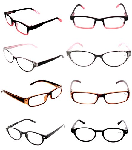 READING GLASSES Clearance Lot 3 Pack Optical Fashionable Ladies Women's Styles Plastic EYEGLASSES - Sample Frames Glasses