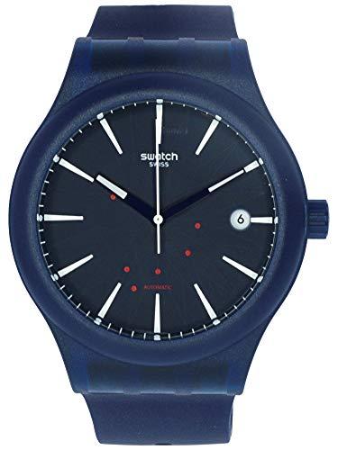 Swatch Originals Sistem Ink Blue Dial Silicone Strap Unisex Watch SUTN404