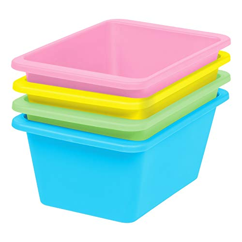 Small Plastic Pastel - IRIS USA, Inc. THR-S Storage Bin, Small, Pastel