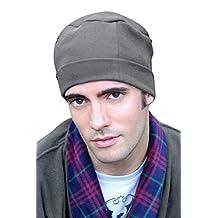 Mens Night Cap - Cotton Sleep Cap for Men Charcoal Heather
