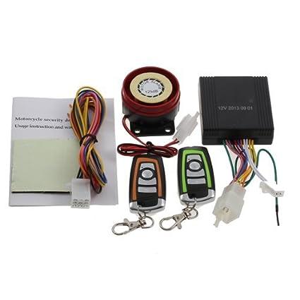 CARCHET® Alarma Antirrobo de Moto con Mando a Distancia Sistema Seguridad pa Suzuki Honda