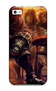 meilinF000Iphone 5c Case Cover - Slim Fit Tpu Protector Shock Absorbent Case (dragons-crown Anime Action Rpg Fantasy Family Medieval Fighting Dragons Crown )meilinF000