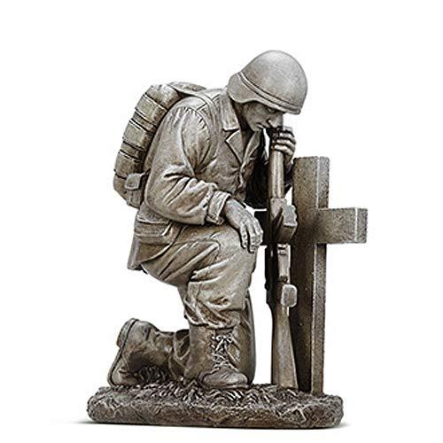 Kneeling Soldier by Cross Gravestone 8
