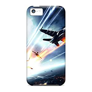 New Battlefield 3 Jets Tpu Case Cover, Anti-scratch FCKLocation Phone Case For Iphone 5c