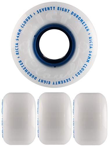 Ricta Clouds Skateboard Wheels (Set of 4) (White/Blue 78A, 54mm)