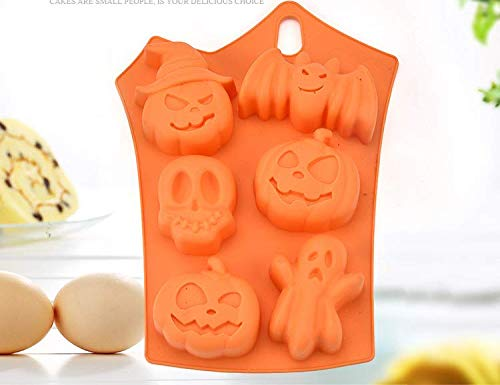 Halloween iced chocolate silicone mold Pumpkin Face Mold 3D Silicone Chocochips Collection 8.9