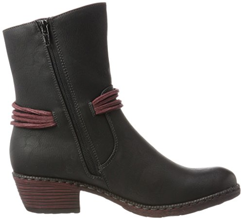 Rieker Kinder Women's K1467 Cowboy Boots, Black (Schwarz/Bordeaux), 7.5 UK