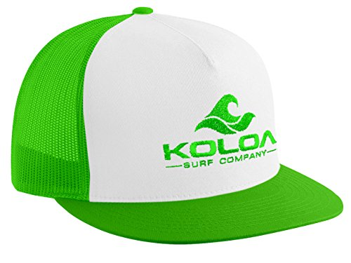 Koloa Surf(tm) Mesh Back Wave Logo Trucker Hat Green/White Green Logo